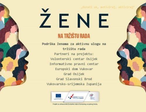 Poziv za nezaposlene žene s područja Slavonije za edukaciju o radu u udrugama